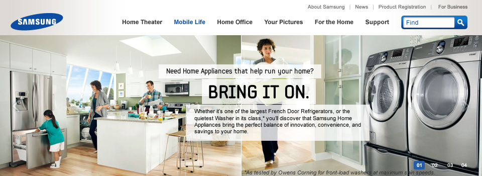 Samsung Home Appliances Bring It On Campaign Creative